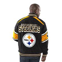 ... Officially Licensed NFL Colorblocked Suede Jacket By Glll ...