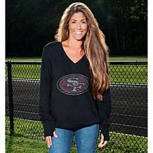 Officially Licensed NFL Women's Bling Sweatshirt by Love Cuce