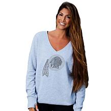 Officially Licensed NFL Women's Love Bling Sweatshirt by Cucé