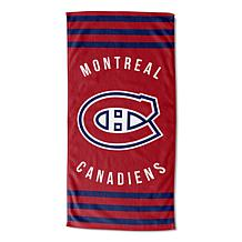 Officially Licensed NHL 620 Canadiens Stripes Beach Towel