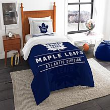 Officially Licensed NHL Draft Twin Comforter Set - Maple Leafs