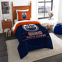 Officially Licensed NHL Draft Twin Comforter Set - Oilers