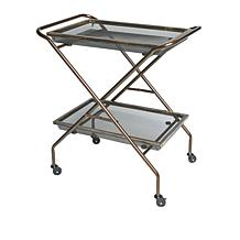 Origami 2-Tier Foldable Rolling Cart