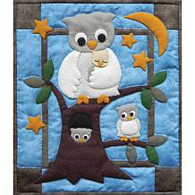 "Owl Family ?13"" x 15"" Wall Quilt Kit"
