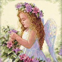 Passion Flower Angel Counted Cross Stitch Kit - 11 x 11