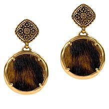 Patricia Carina Leather Charm Drop Earrings