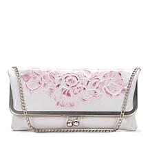 Patricia Nash Bosa Tooled Metallic Leather Frame Clutch