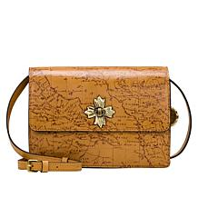 Patricia Nash Consilina Floret Leather Crossbody Bag