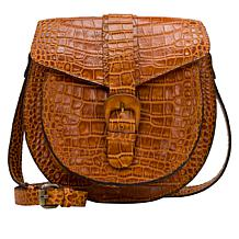 Patricia Nash Padova Leather Saddle Bag