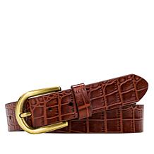 Patricia Nash Vietri Croco-Embossed Leather Belt