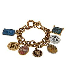 "Patricia Nash World Stamp 7-1/2"" Dangle Bracelet"