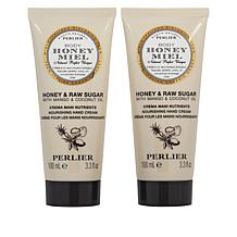 Perlier 2-pack Honey Raw Sugar Hand Cream