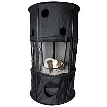 Pet Life Climbertree Circular Play-Active Collapsible Travel Cat House