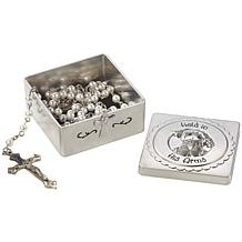 Precious Moments Held In His Arms Baptism Keepsake Box with Rosary