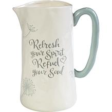 "Precious Moments ""Refresh Your Spirit, Refuel Your Soul"" Pitcher"