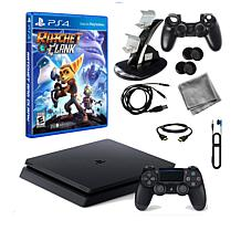"PS4 Slim 1TB Console with ""Ratchet & Clank"" & Kit"