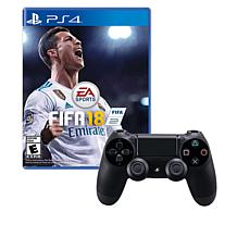 PS4 Wireless DualShock 4 Controller with FIFA 18 Game