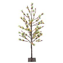 Puleo International 4' Red Berry Led  Tree w/160 White Twinkle Light