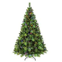 Puleo Intl. Pre-Lit 7.5' Adirondack Artificial Christmas Tree w/ LEDs