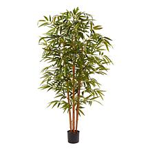 Pure Garden 6' Tall Artificial Bamboo Plant with Natural Trunk