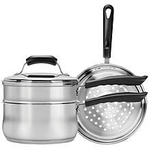 Range Kleen® Basics 3-Qt. Saucepan w/ Double Boiler Steamer Insert Set