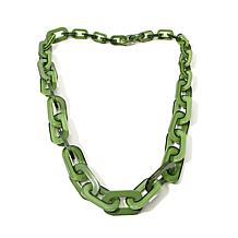 """Rara Avis by Iris Apfel """"Chained"""" Resin Link Necklace"""