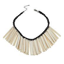 "Rara Avis by Iris Apfel Wood Stick 22"" Bib Necklace"