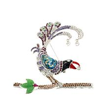 Rara Avis Multicolor Crystal Wild Bird Brooch