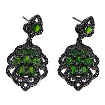 Rarities 6.45ctw Chrome Diopside and Black Spinel Drop Earrings