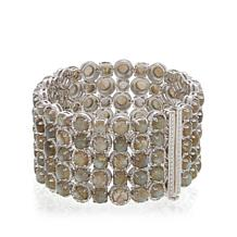 "Rarities Cabochon and Diamond Multi-Row 7"" Bracelet"