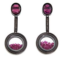 Rarities Gemstone Drop Shaker-Design Earrings