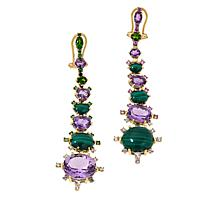 Rarities Gold-Plated Multi-Gem Dangle Earrings