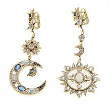 Rarities Moonstone, Sapphire and Multigemstone Celestial Drop Earrings