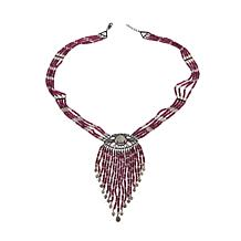 "Rarities Multi-Strand Evil Eye Gem 24"" Tassel Necklace"
