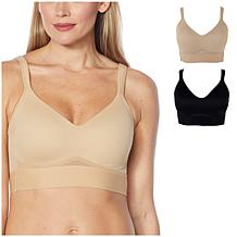 Rhonda Shear 2-pack Molded Cup Bra with Cross Back Mesh Detail
