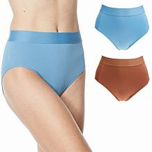Rhonda Shear 2-pack Seamless Wide Waistband Brief