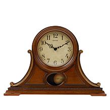 Rhythm Lancaster Wooden Musical Mantel Clock with 7 Music Cartridges