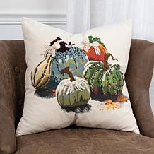 Sherri Buck Baldwin Thanksgiving Harvest Gobbler Dog Pillow Indoor//Out Doggie 18