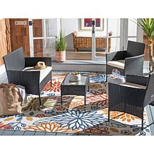 Safavieh Abdul 4-Piece Living Set - Black, Grey