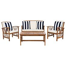 Safavieh Fontana 4-piece Outdoor Living Set