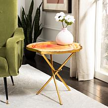 Safavieh Giselle Faux Agate Side Table