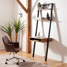 Safavieh Kamy 2-Shelf Leaning Desk