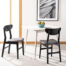 Safavieh Lucca Retro Black Dining Chair 2-pack