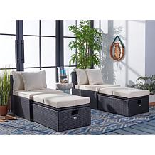 Safavieh Pramla Outdoor Sette with Ottoman