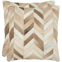 Safavieh Set of 2 Marley Cowhide Pillows