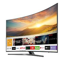 "Samsung 55"" MU7600 4K Ultra HD Curved Smart TV with 2-Year Warranty"