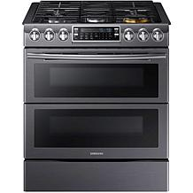 Samsung 5.8CF Gas Range with WiFi - Black Stainless