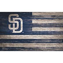 San Diego Padres Distressed Flag 11x19