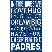 San Diego Padres In This House Sign