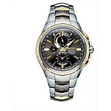 Seiko Men's Coutura Perpetual Two-Tone Stainless Steel Solar  Watch